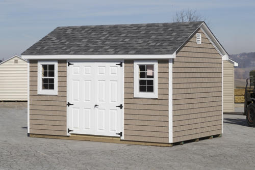 10x14 Signature Series Cape with Vinyl Shake Siding