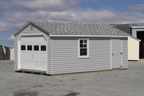 12x24 Cape with Garage Door