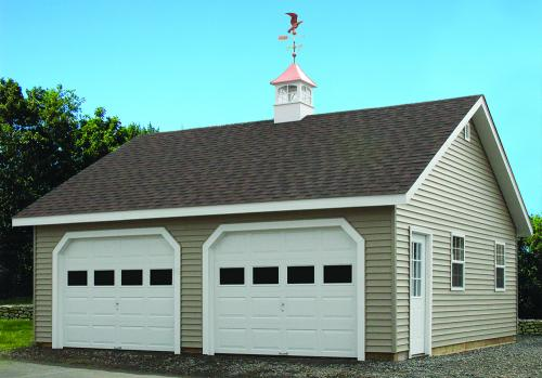 24x24 Two-Car Cape Garage, with Copper Cupola & Eagle Weathervane