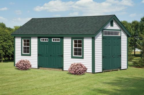 12x20 New England Series Cape with Transom Window